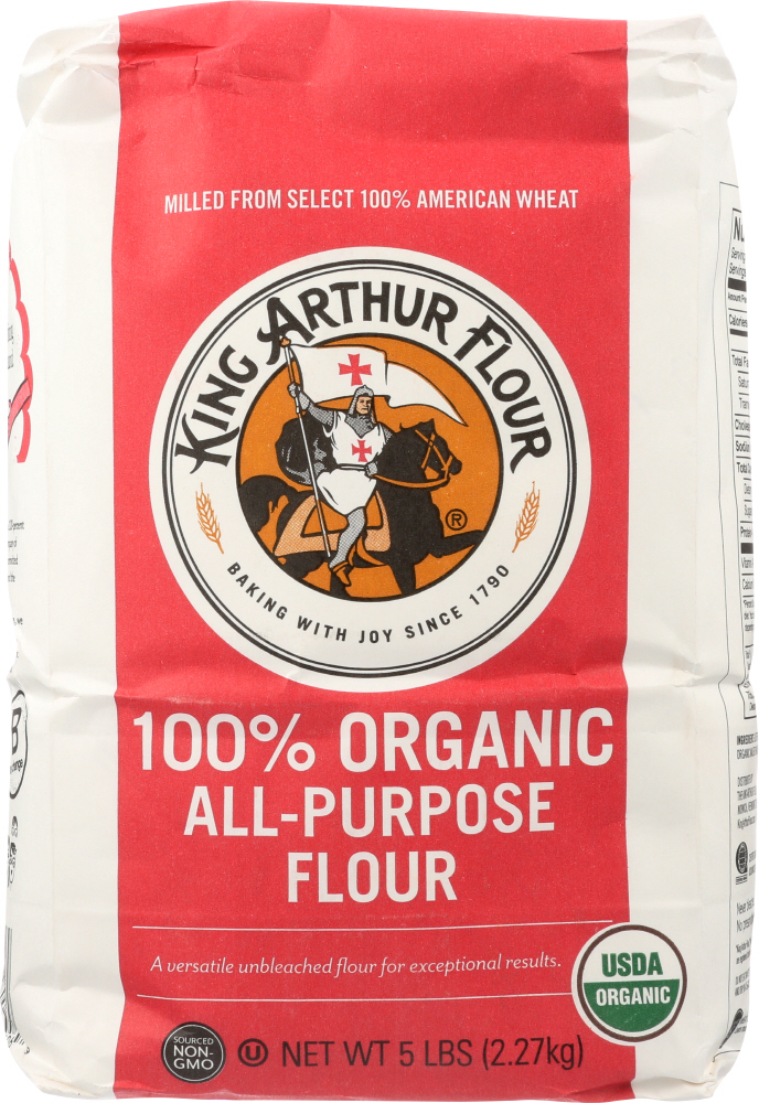 KING ARTHUR FLOUR: Organic Unbleached All Purpose Flour, 5 lbs