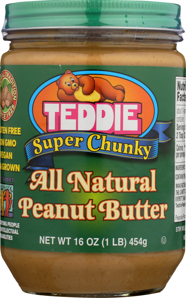 TEDDIE: Peanut Butter  Super Chunky Old Fashioned, 16 oz