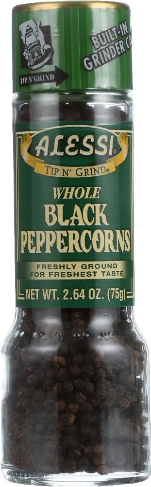 ALESSI: Whole Black Peppercorns, 2.64 oz