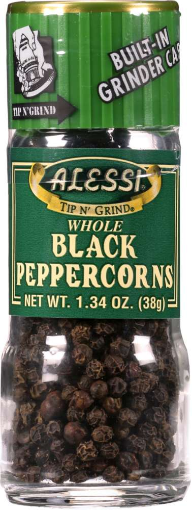 ALESSI: Whole Black Peppercorns, 1.34 Oz