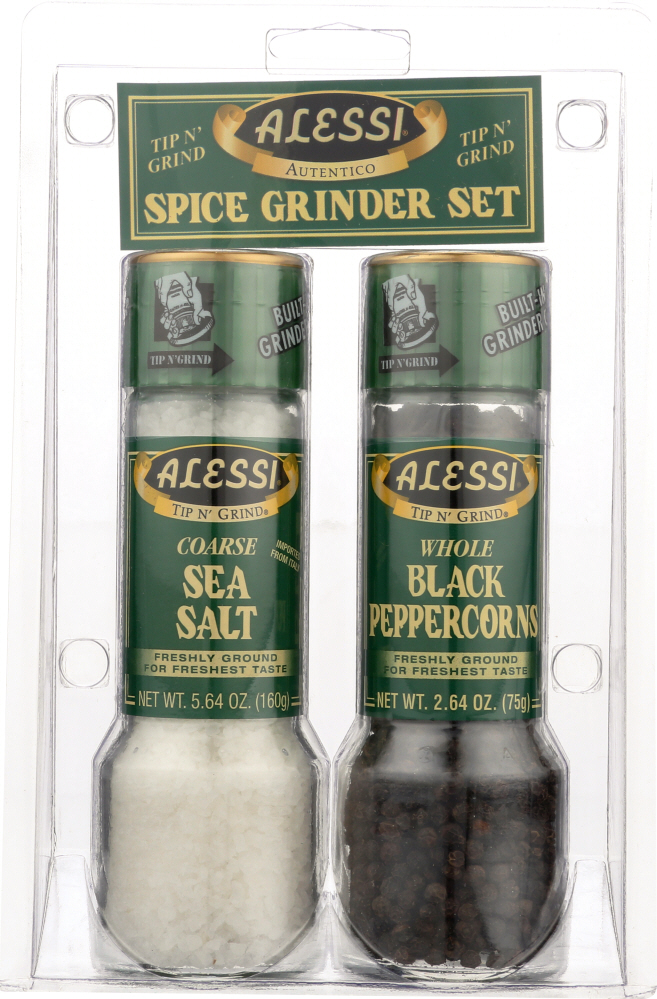 ALESSI: Grinder Set Salt and Pepper, 2 Pc