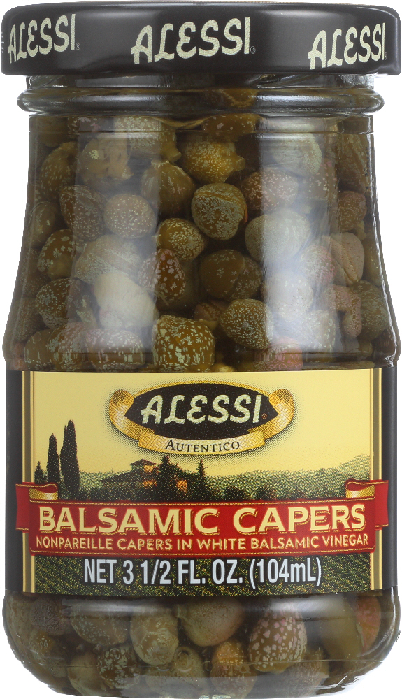 ALESSI: Nonpareille Capers in White Balsamic Vinegar, 3.5 Oz