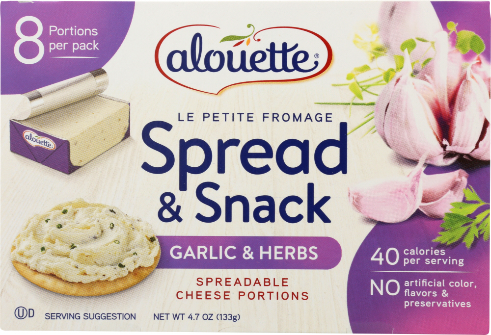 ALOUETTE: Cheese Fromage Garlic & Herb, 4.7 oz