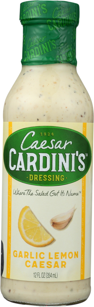 CARDINI: Garlic Lemon Caesar Dressing, 12 oz