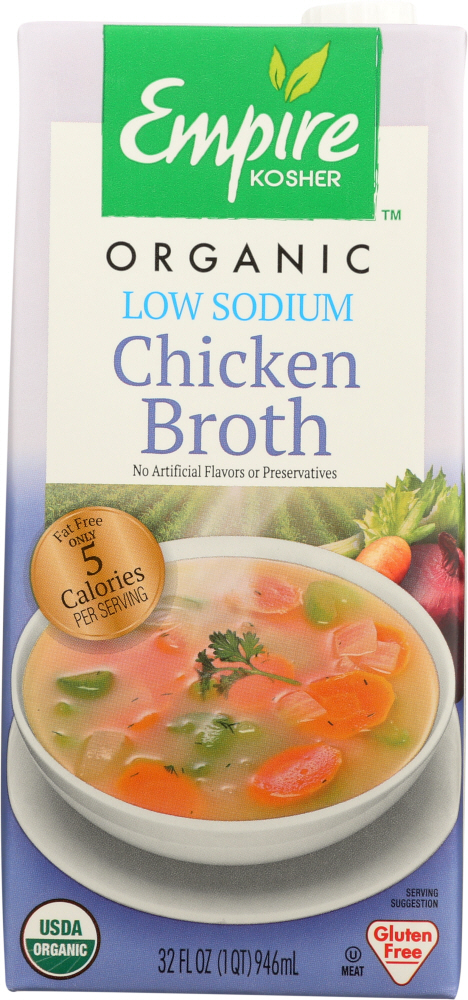 EMPIRE KOSHER: Chicken Broth Low Sodium, 32 oz