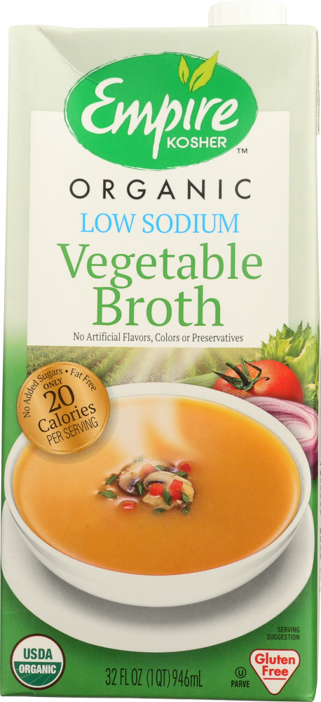 EMPIRE KOSHER: Vegetable Broth Low Sodium, 32 oz