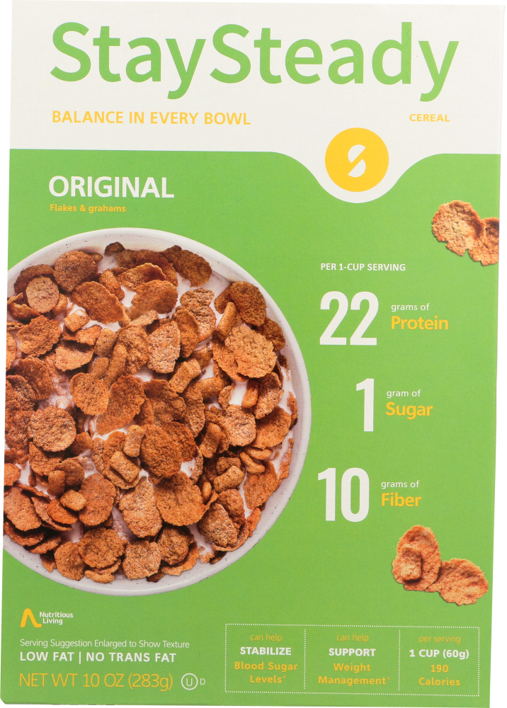 NUTRITIOUS LIVING: Cereal Original Stay Steady, 10 oz