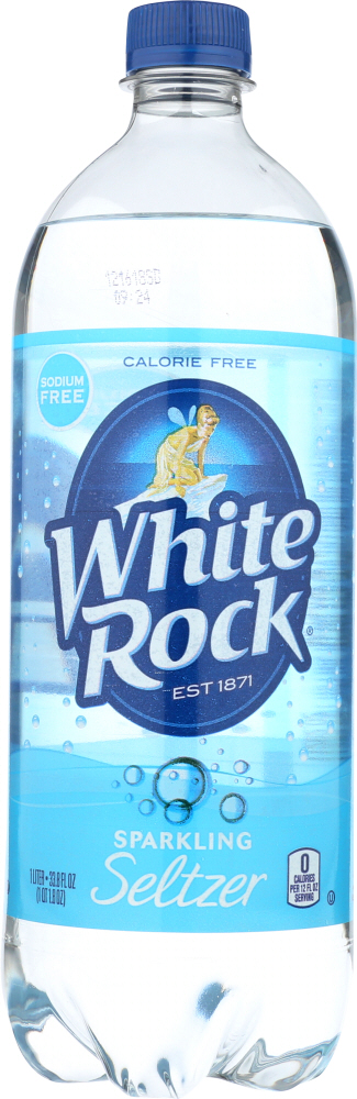 WHITE ROCK: Soda Sparkling Seltzer Water Plain, 33.8 oz