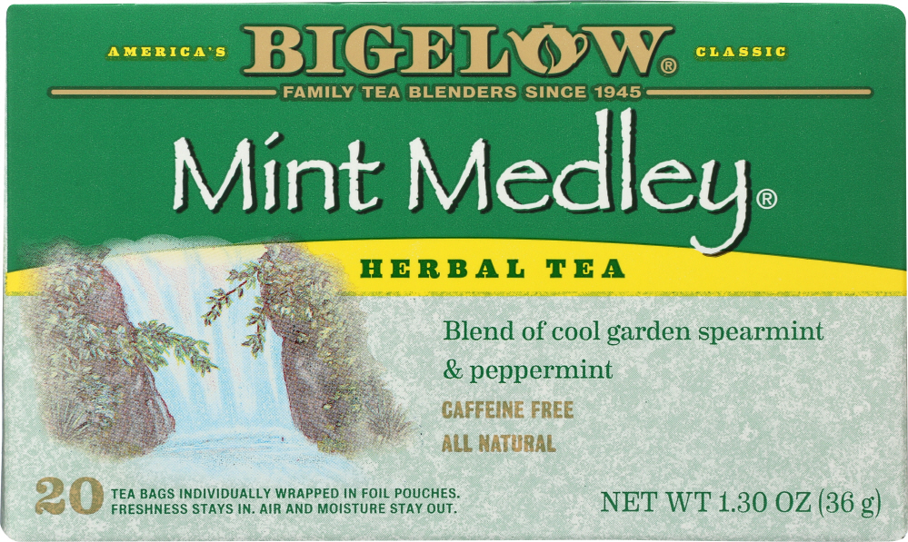 BIGELOW: Mint Medley Herbal Tea 20 Bags, 1.3 oz