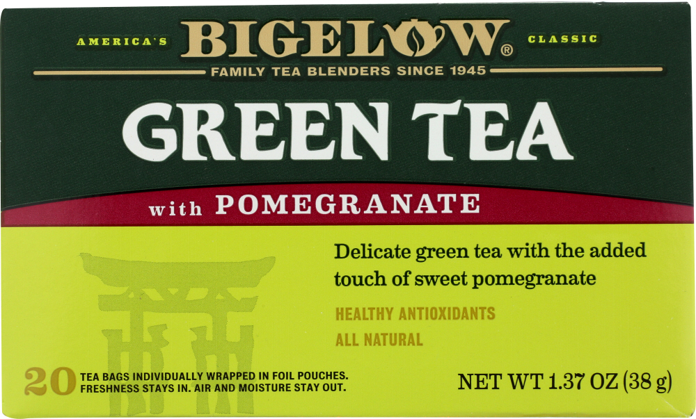 BIGELOW: Green Tea With Pomegranate 20 Tea Bags, 1.37 oz
