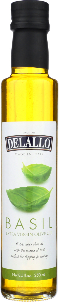 DELALLO: Dipping Oil Basil, 8.5 oz