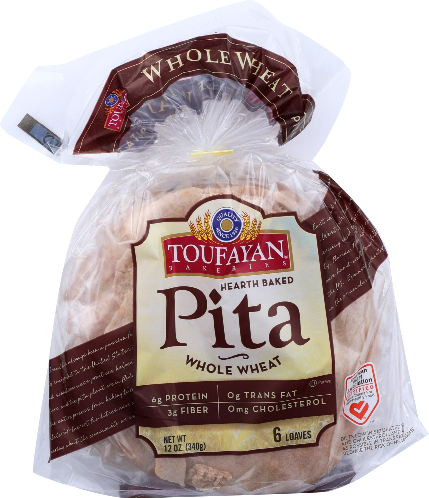 TOUR DE FRANCE: Pita Whole Loave Wheat, 12 oz