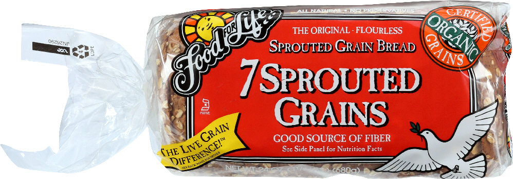 FOOD FOR LIFE: Organic 7 Key Sprouted Whole Grain Bread, 24 oz