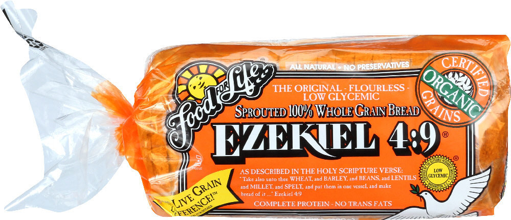 FOOD FOR LIFE: Ezekiel 4:9 Sprouted 100% Whole Grain Bread, 24 oz