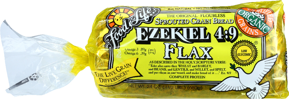 FOOD FOR LIFE: Ezekiel 4:9 Flax Sprouted Grain Bread, 24 oz