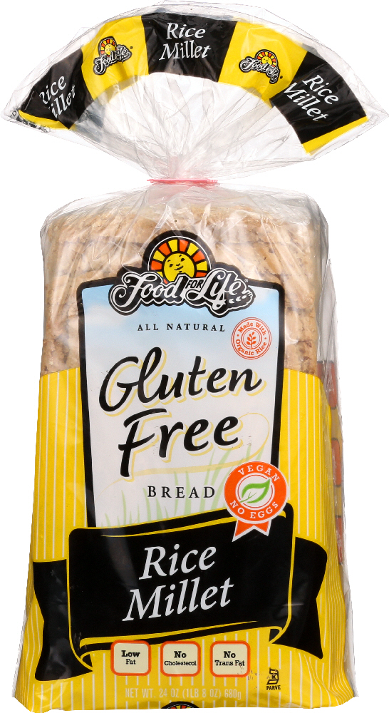 FOOD FOR LIFE: Gluten Free Rice Millet Bread, 24 oz