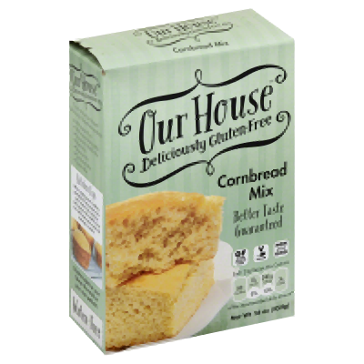 OUR HOUSE: Mix Corn Bread Gluten Free, 16 oz