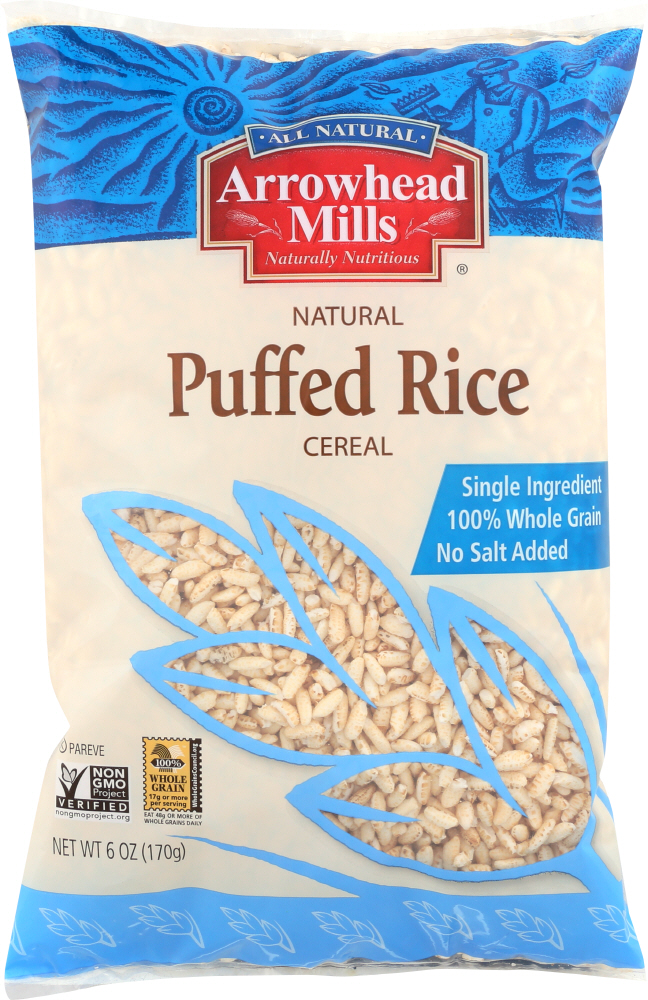 ARROWHEAD MILLS: Natural Puffed Rice Cereal, 6 oz