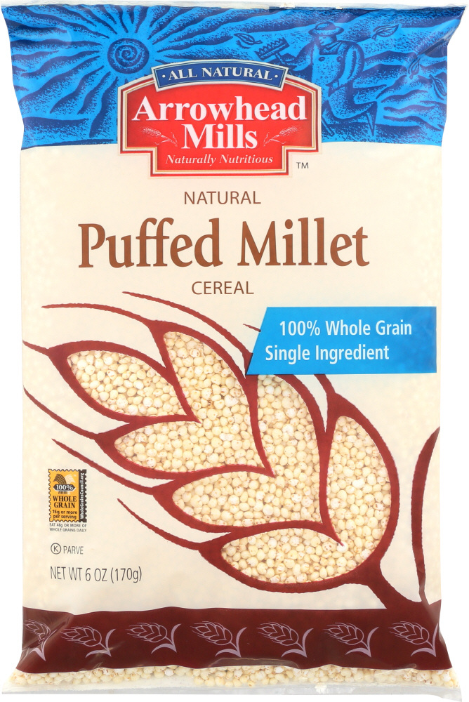 ARROWHEAD MILLS: Puffed Millet Cereal, 6 oz
