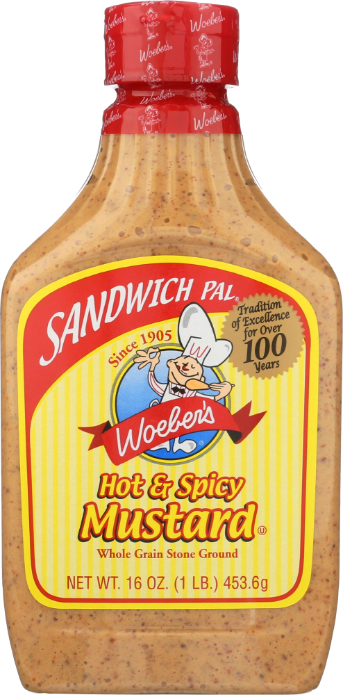 WOEBER: Mustard Sandwich Pal Hot and Spicy, 16 oz