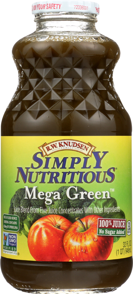 R.W. KNUDSEN FAMILY: Simply Nutritious Mega Green Juice, 32 oz