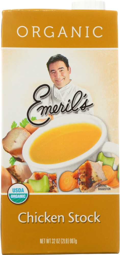 EMERIL'S: Organic All Natural Chicken Stock, 32 oz