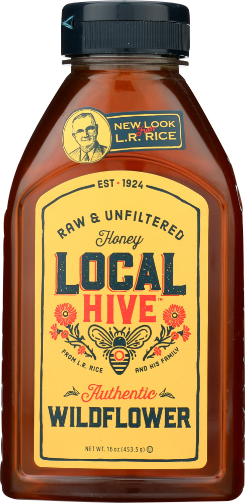 LOCAL HIVE: Raw & Unfiltered Wildflower Honey, 16 oz