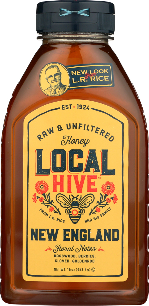 LOCAL HIVE: Raw & Unfiltered New England Honey, 16 oz
