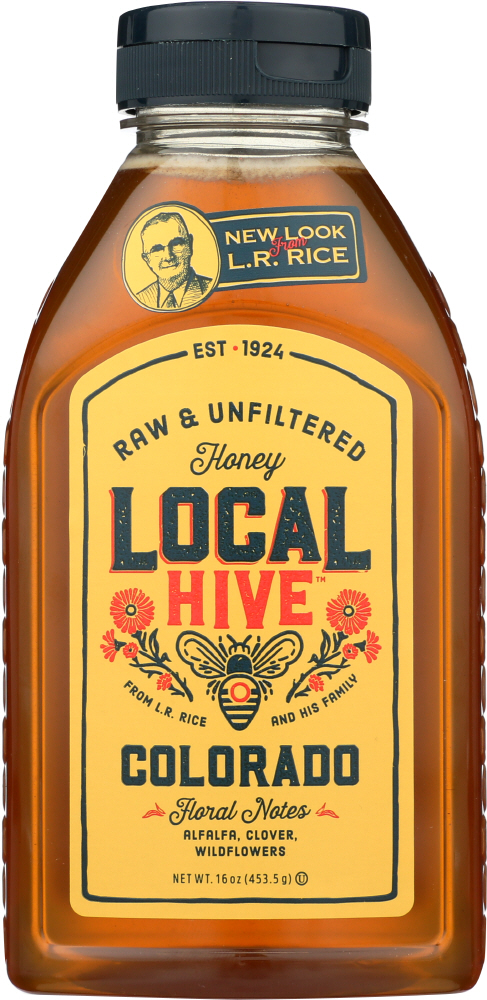 LOCAL HIVE: Raw & Unfiltered Colorado Honey, 16 oz