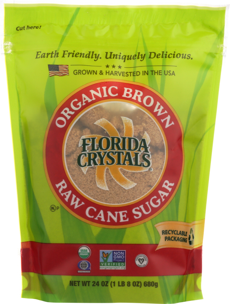 FLORIDA CRYSTALS: Sugar Brown Organic, 24 oz