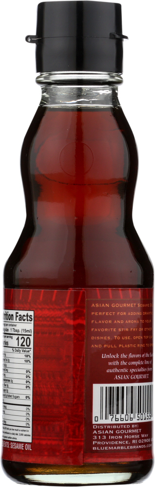 ASIAN GOURMET: Sesame Oil, 6.2 fo