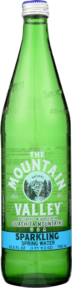 MOUNTAIN VALLEY: Sparkling Water Glass Bottle, 750 ml