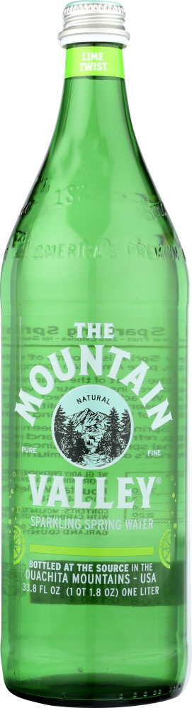 MOUNTAIN VALLEY: Water Sparkle Lime, 1 lt