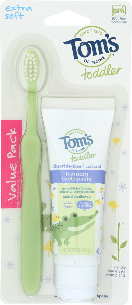 TOMS OF MAINE: Toothpaste Toddler Combo Pack, 1.75 oz