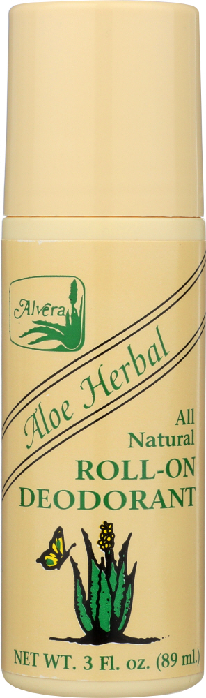 ALVERA: All Natural Roll-On Deodorant Aloe Herbal, 3 oz