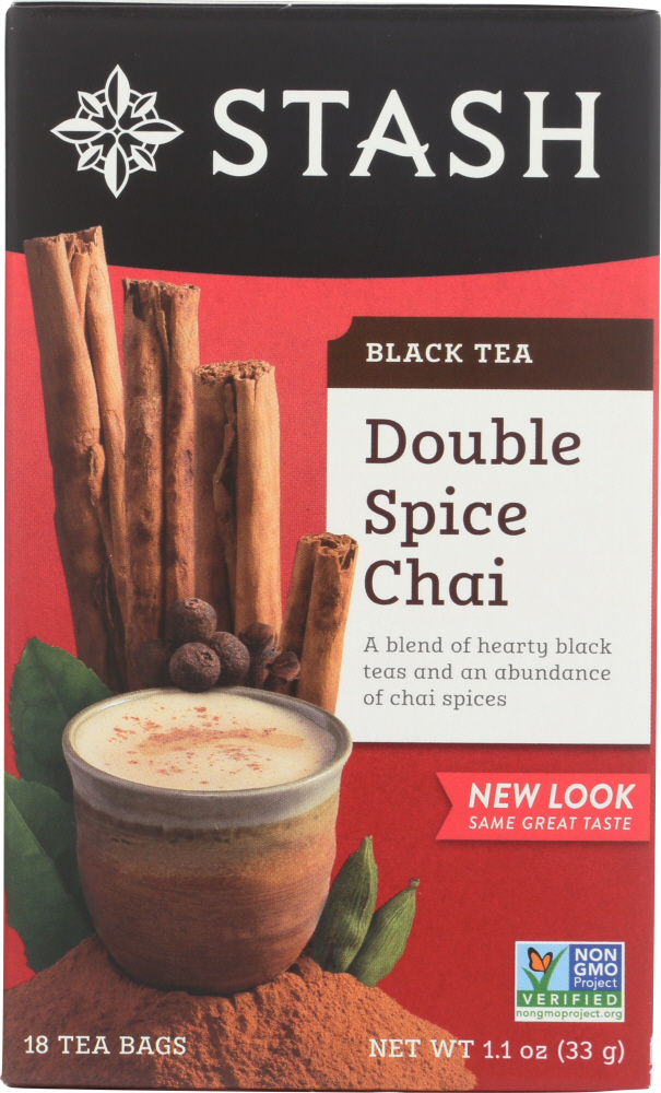 STASH TEA: Black Tea Double Spice Chai 18 tea bags, 1.1 oz