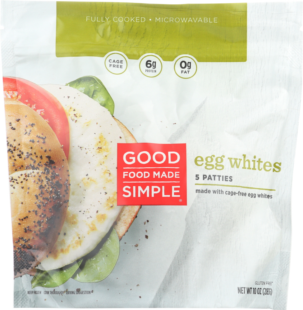 GOOD FOOD MADE SIMPLE: Egg White Patties Cage Free, 10 oz