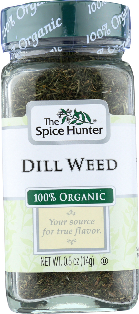 THE SPICE HUNTER: 100% Organic Dill Weed, 0.5 oz