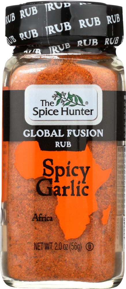 SPICE HUNTER: Global Fusion Rub Spicy Garlic, 2 oz