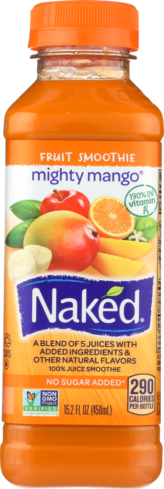 NAKED: Juice Mighty Mango Pure Fruit 100% Juice Smoothie, 15.2 oz
