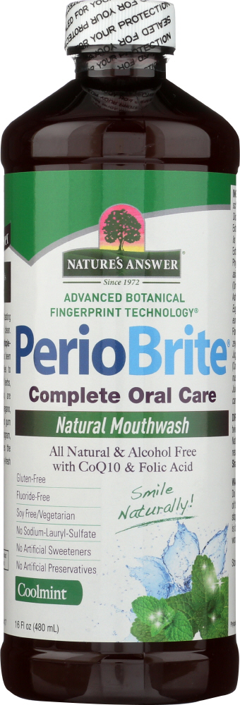 NATURE'S ANSWER: PerioBrite Natural Mouthwash Coolmint, 16 oz