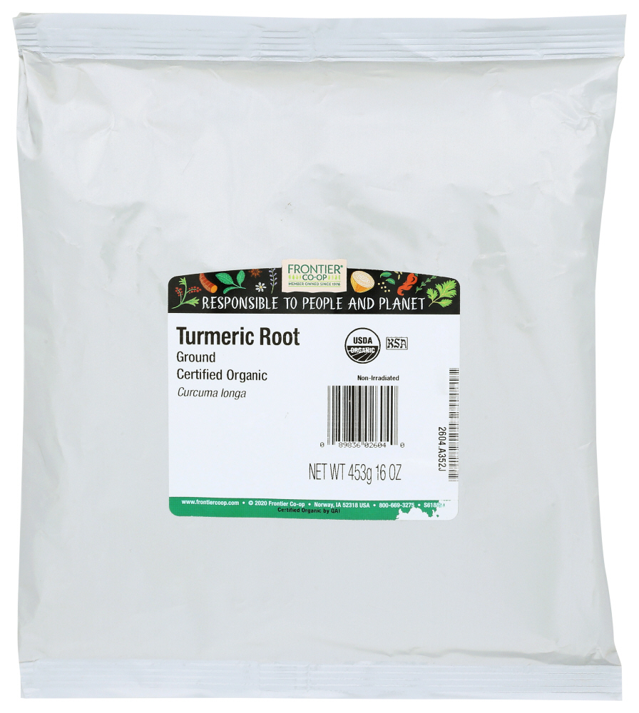 FRONTIER HERB: Ground Turmeric Root Organic, 16 oz