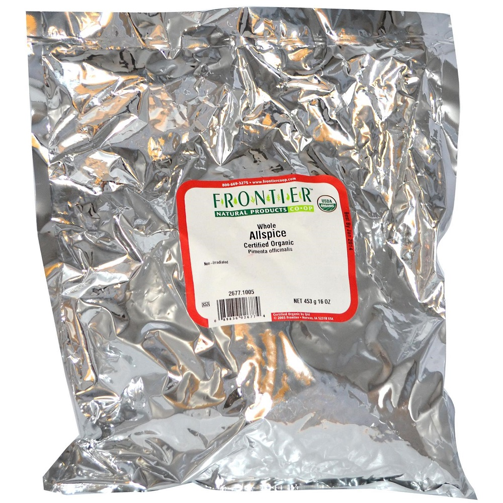 FRONTIER HERB: Organic Allspice Whole, 16 oz