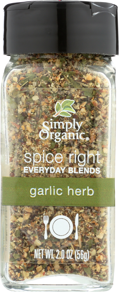 SIMPLY ORGANIC: Spice Right Garlic & Herb, 2 oz