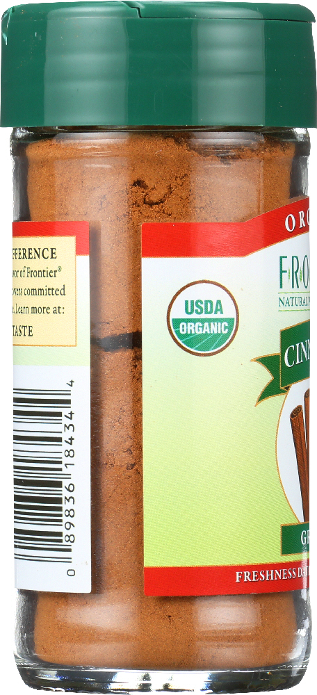 FRONTIER NATURAL PRODUCTS: Organic Cinnamon Ground, 1.9 oz