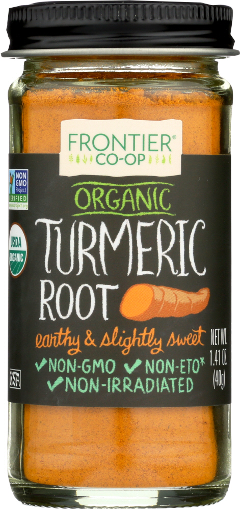 FRONTIER NATURAL PRODUCTS: Organic Ground Turmeric Root, 1.76 oz