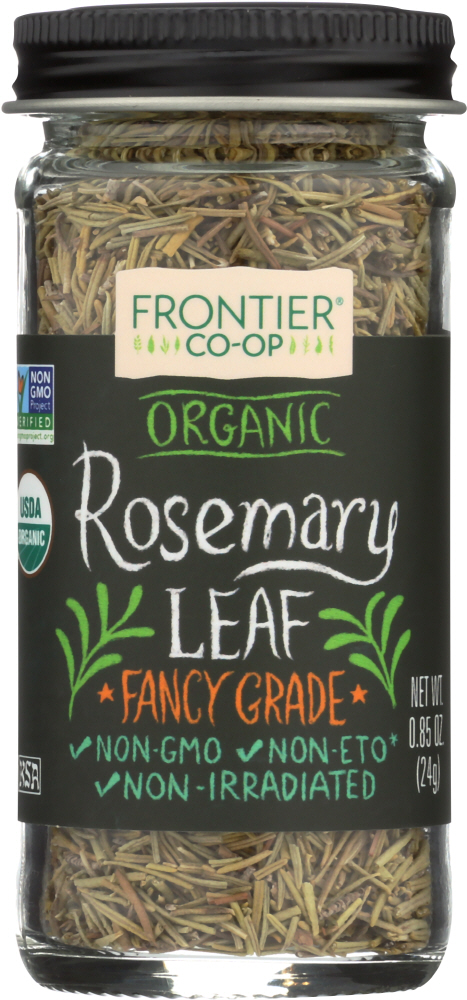 FRONTIER HERB: Organic Rosemary Leaf Whole Bottle, 0.85 oz