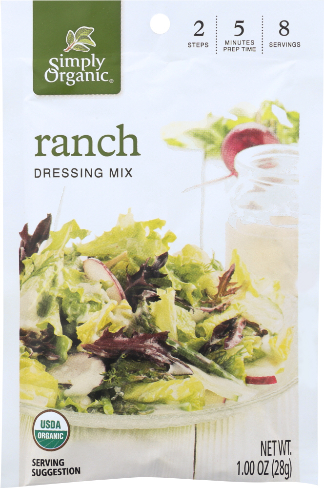 SIMPLY ORGANIC: MIX DRSSNG RANCH ORG (0.110 OZ)