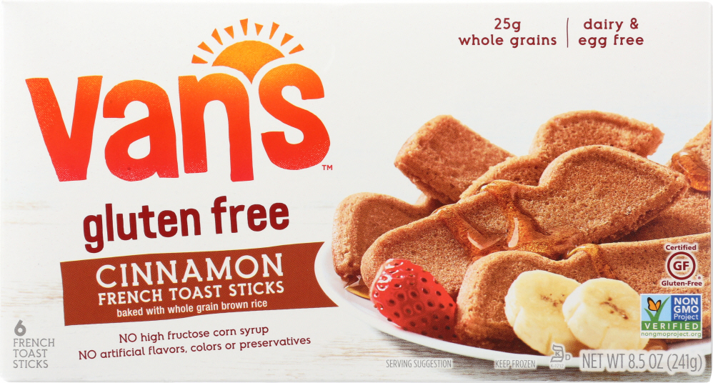 VAN'S: French Toast Sticks Cinnamon Wheat Gluten Free, 8.5 oz