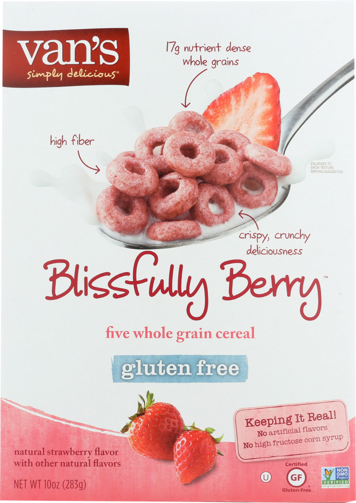 VAN'S: Simply Delicious Cereal Blissfully Berry, 10 oz